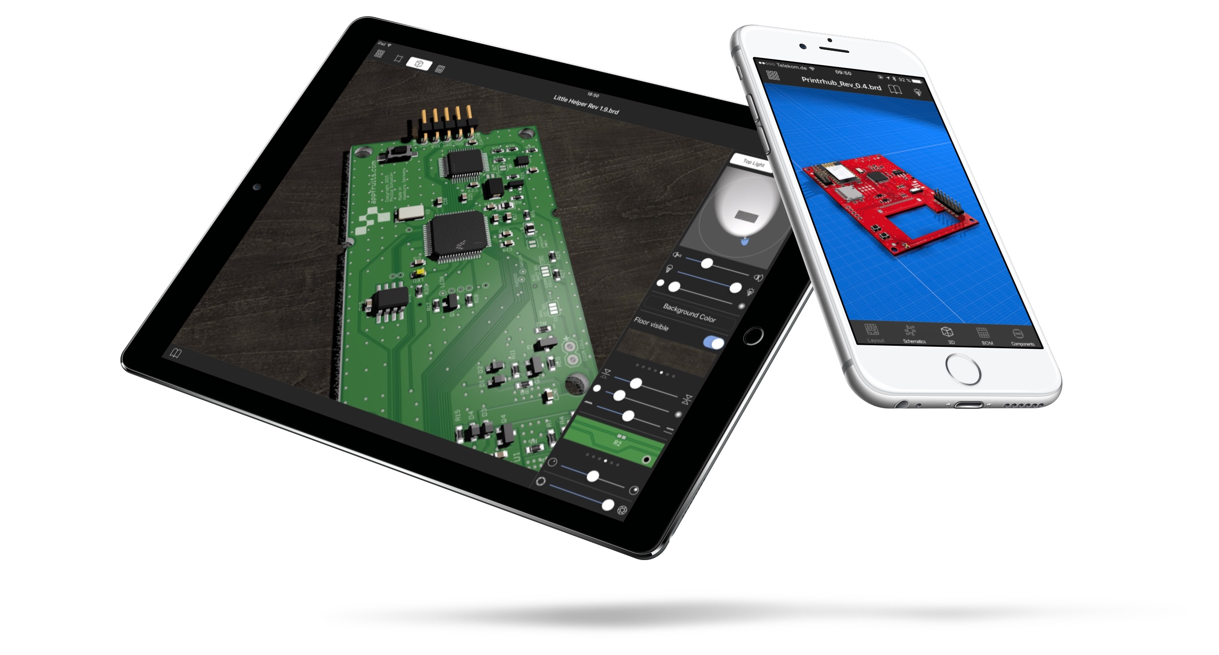 Copper For Ios Open And View Eagle Files On Iphone Ipad Source Pcb Design Software Takes Care Of Every Little Detail Your You Just Have To Assign 3d Models From Our Extensive Model Library Footprints Can